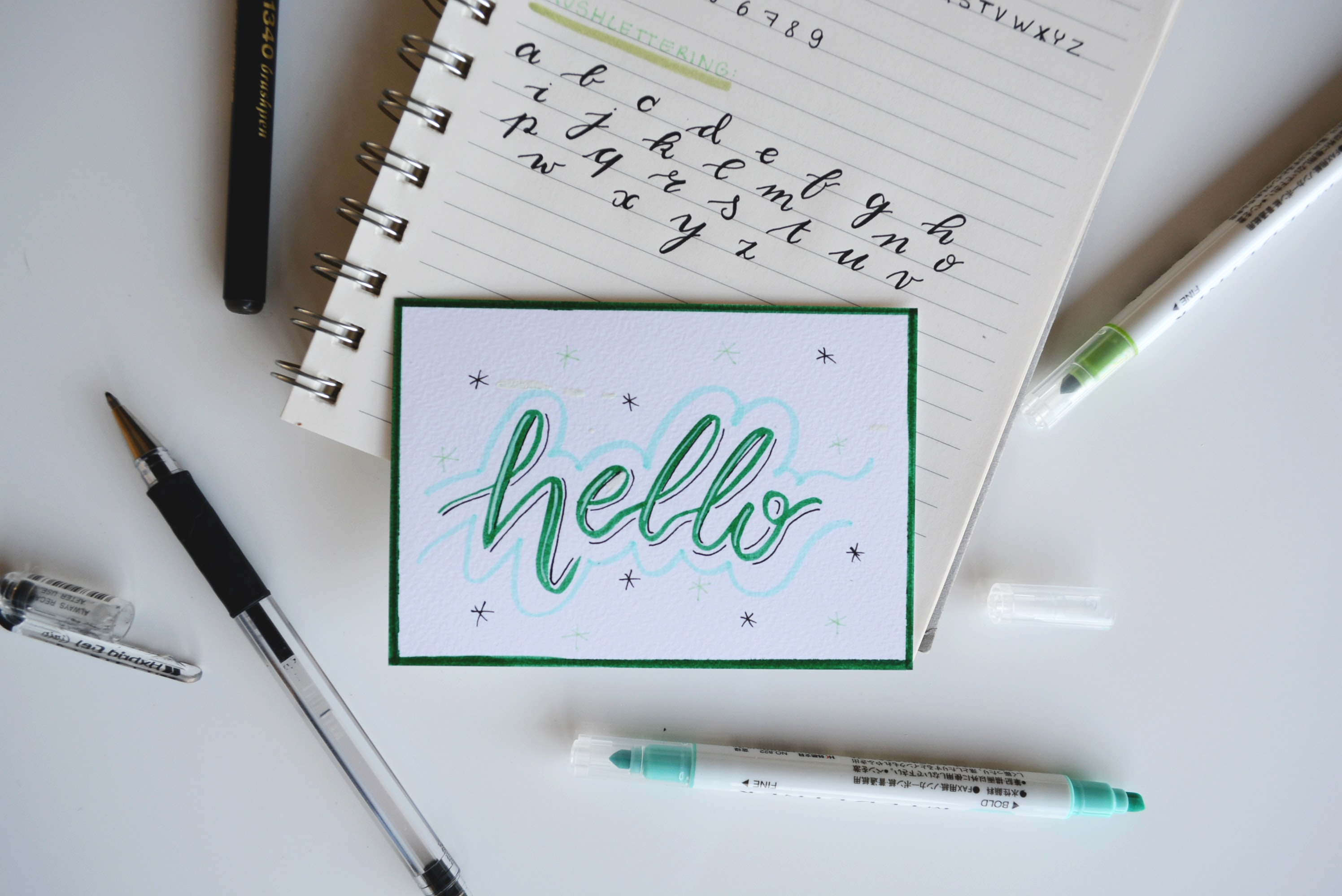helloという文字